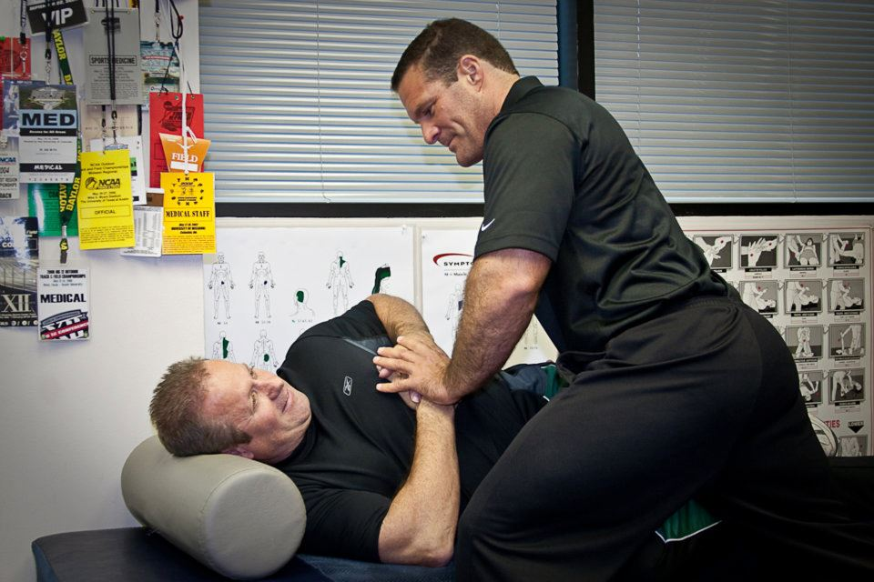 Dr. Bob performing a Low Back osseous manipulation